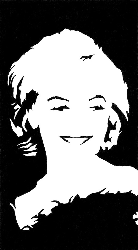 Steve Greaves - Marilyn Monroe - ink portrait drawing